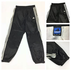 Adidas striped windbreaker track pants